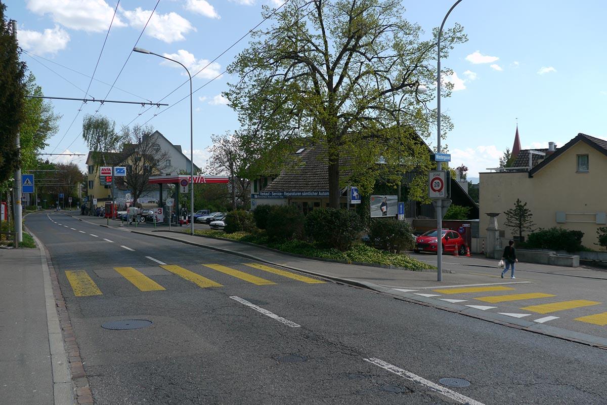 Ab der Wieslergasse bis zur Gsteigstrasse hatten grünliberale Gemeinderäte für die Regensdorferstrasse eine Begegnungszone mit Tempo 20 gewünscht. Nur sie?