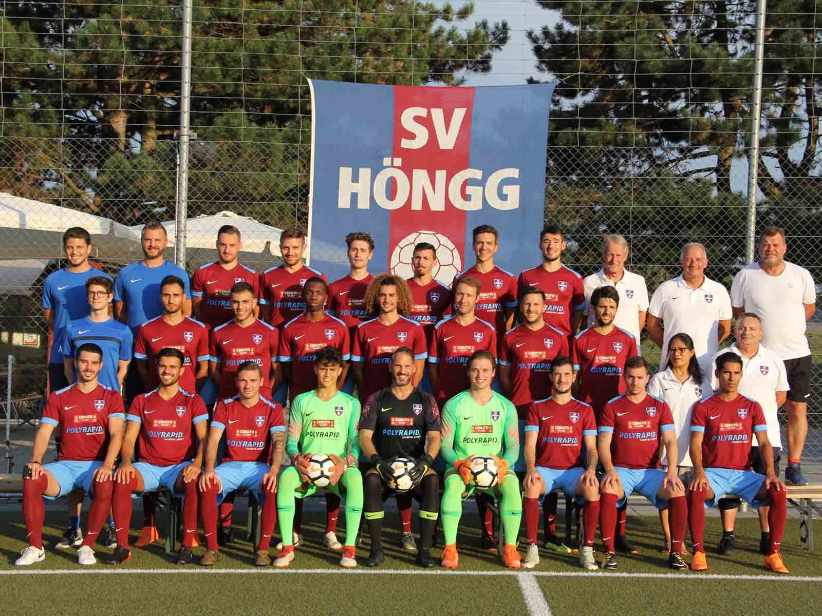Glückliche 1. Mannschaft des SV Höngg
