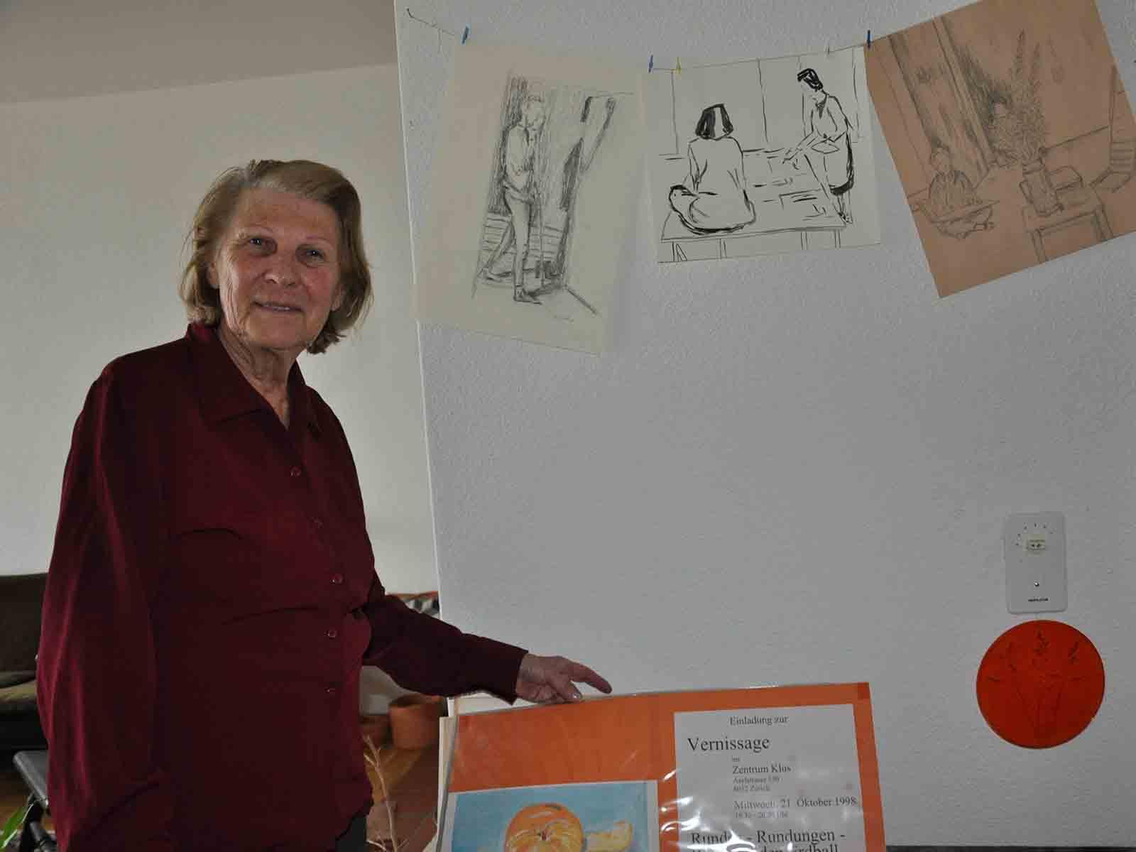 """Heidi Bolliger stellt ihre """"Menschen-Bilder"""" im Tertianum Im Brühl aus."""