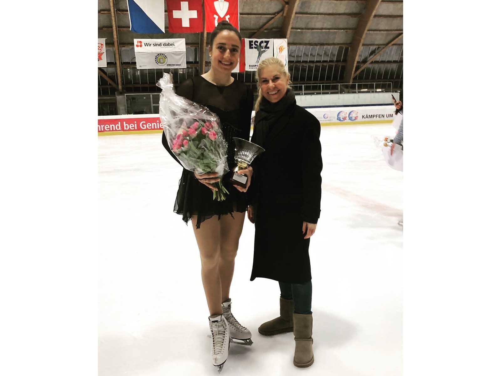Die 19-jährige Hönggerin Linda Kaiser holte den Stadtmeisterschaftstitel im Eiskunstlauf.