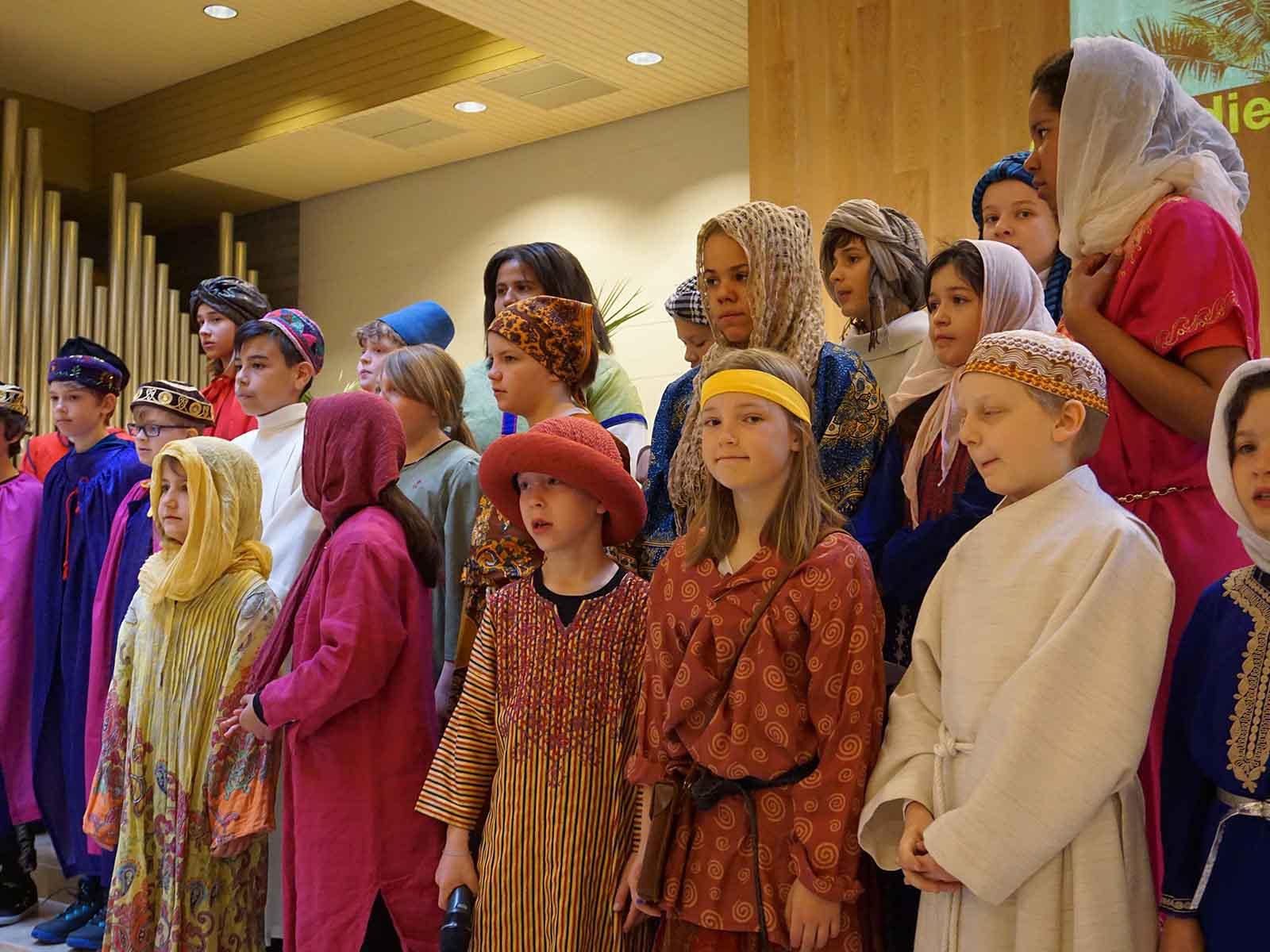 Der Kinderchor «Cantata Seconda» unter der Leitung von Renata Jeker.