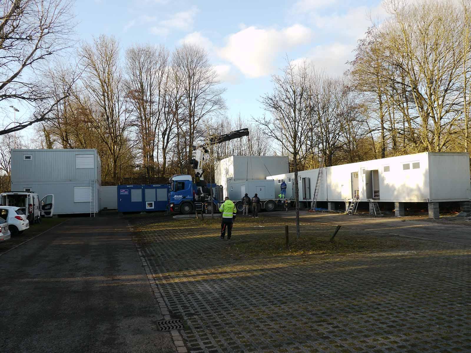 Das Containerdörfli auf dem Parkplatz zwischen den beiden Schützenhäusern auf dem Hönggerberg – für die nächsten 16 Monate das Zuhause des SVH.