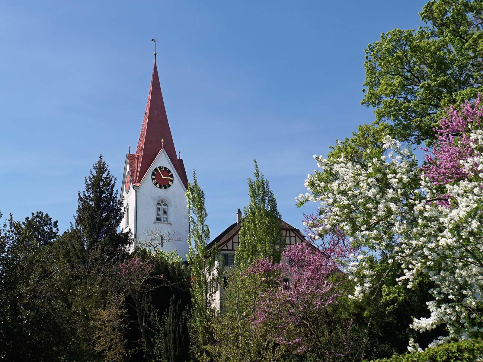 Reformierte Kirche Höngg im Frühling