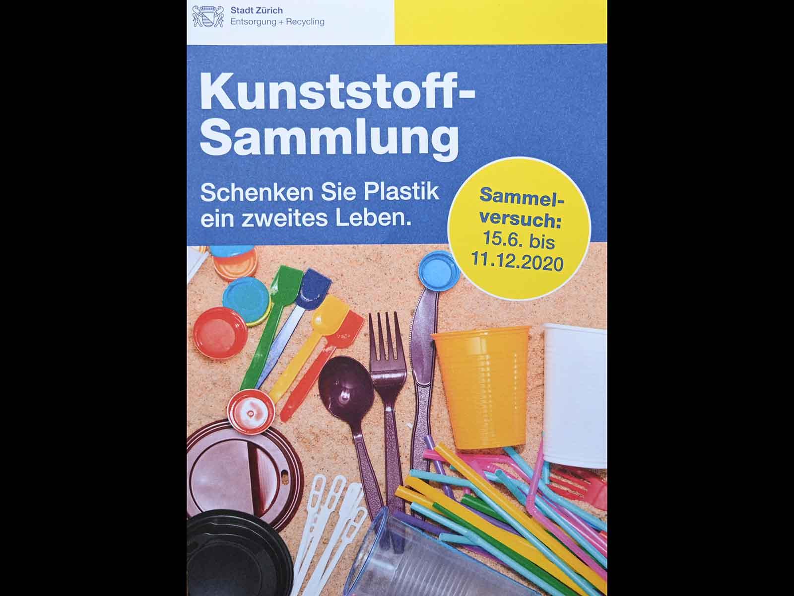 In Höngg wird Plastik-Recycling getestet.