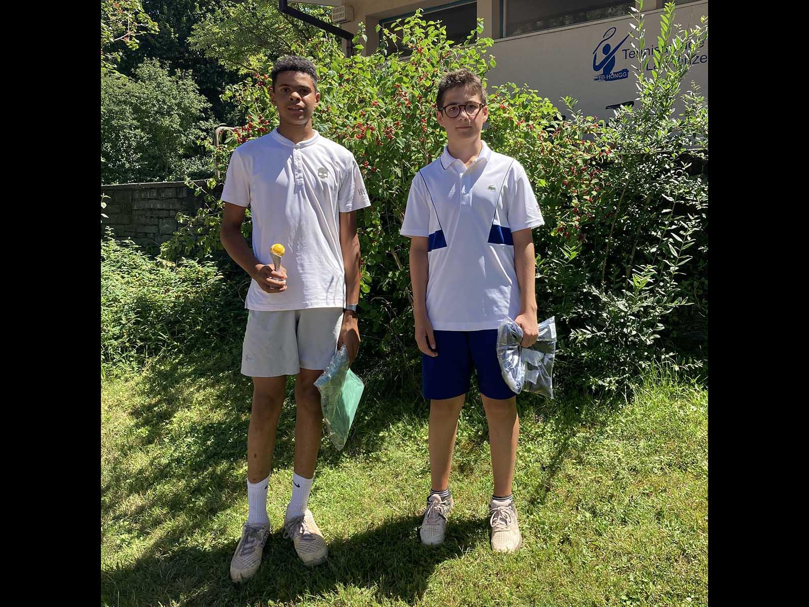 links - Hellani Alihedi, rechts - Schlienger Quentin