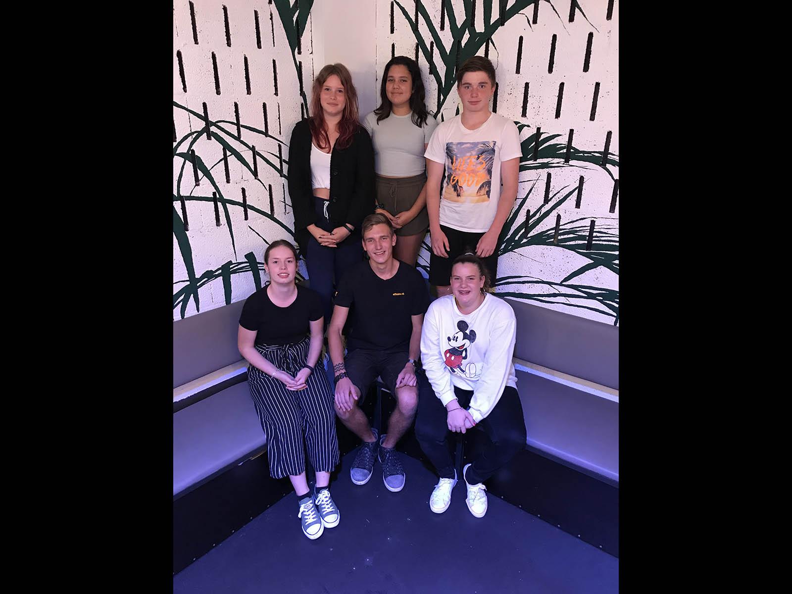 Das OK: (hinten v.l.n.r) Leonie, Eva, Remo, (vorne) Carmina, Kelvin und Gioia. Es fehlen: Lara und Michelle. (Foto:zvg)