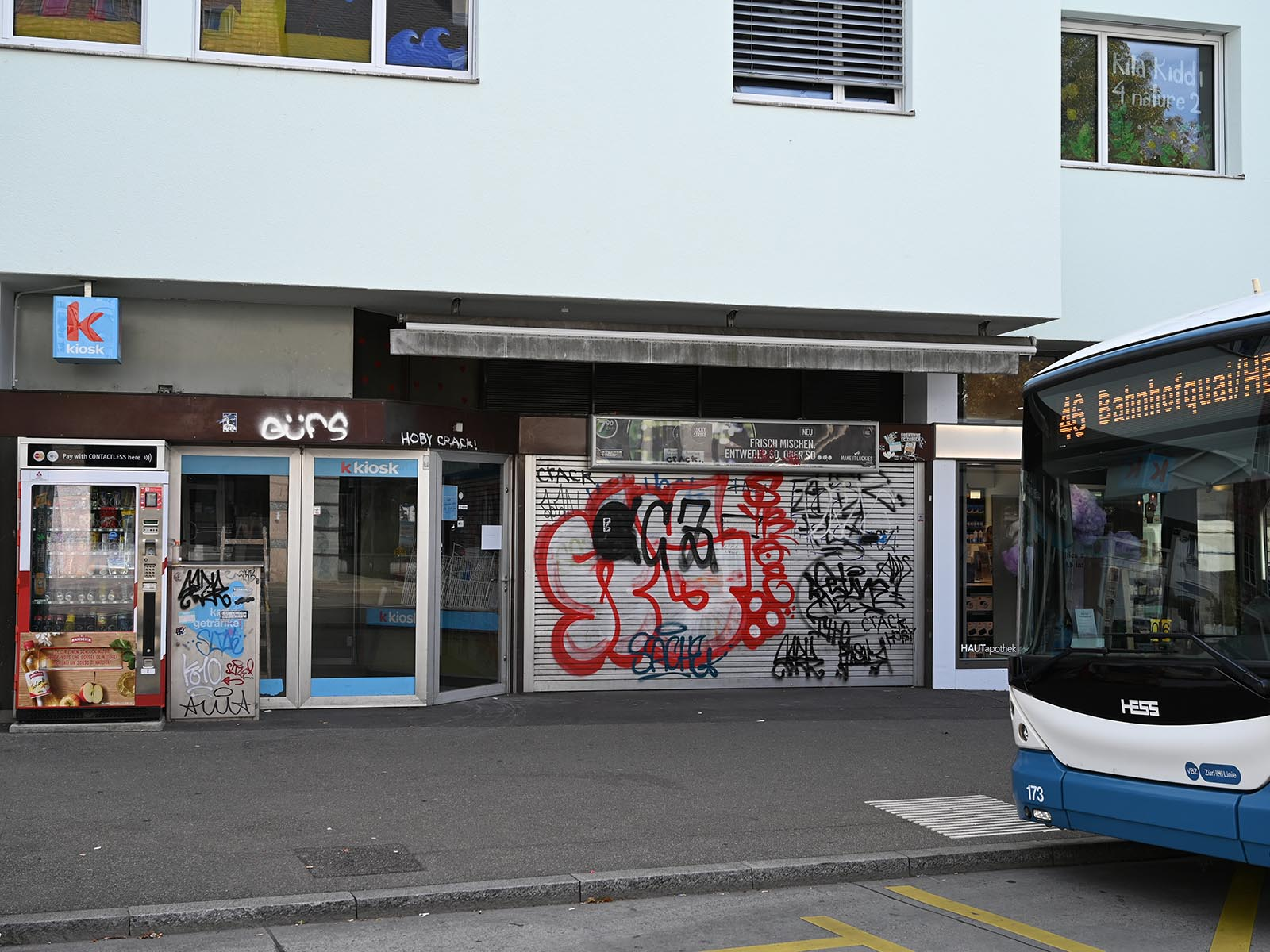 Der Kiosk am Meierhofplatz ist seit Ende Juli geschlossen. Nachfolge (noch) unbekannt.