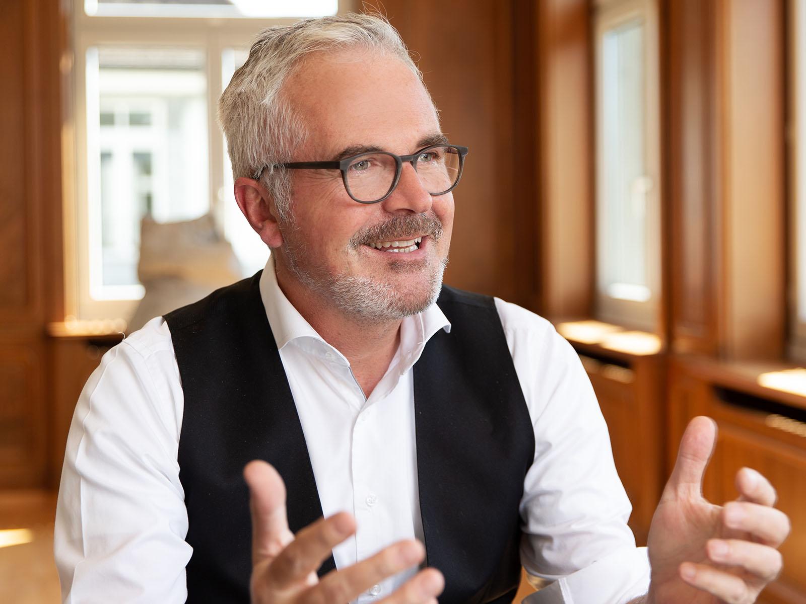 Stadtrat und Vorsteher des Gesundheits- und Umweltdepartements Andreas Hauri ist überzeugt von der Vorwärtsstrategie der Stadt beim Thema Alter.