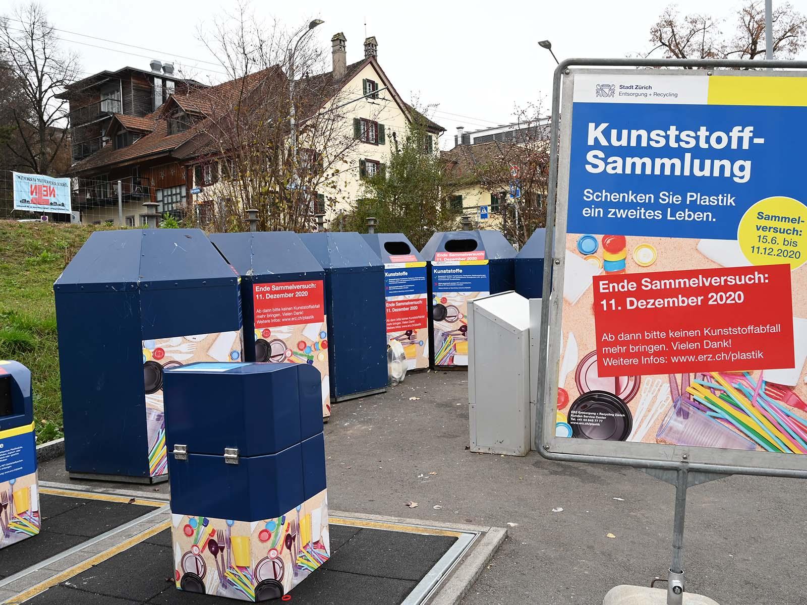 Der Kunststoff-Sammelversuch in Höngg und Schwamendingen läuft noch regulär bis zum 11. Dezember.