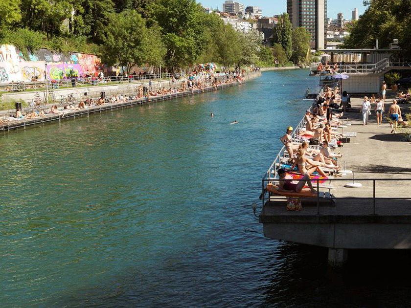Heute ist die Badi Letten Treffpunkt für eine ganz andere Szene.