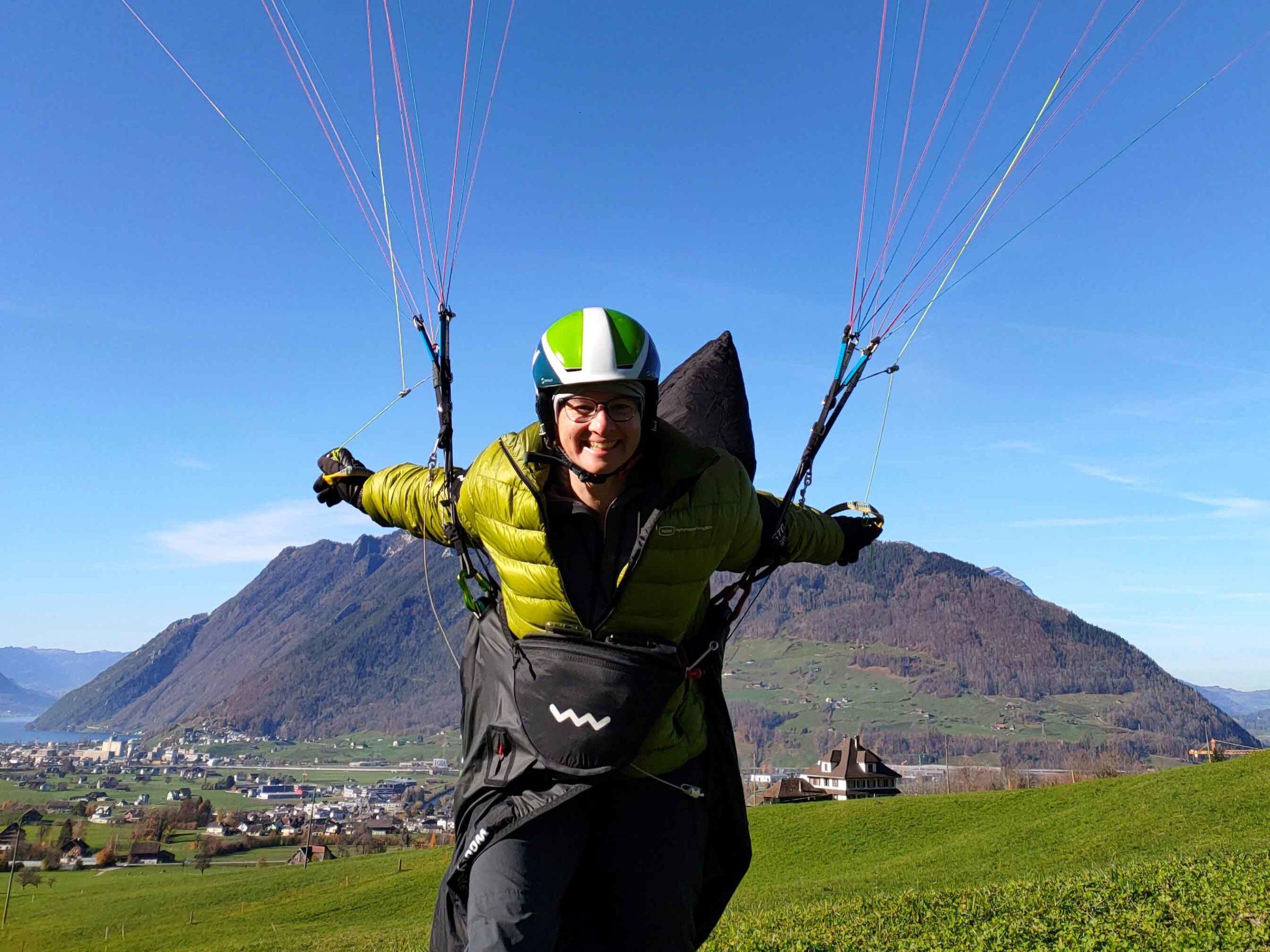 Gut gelandet: das Fliegen ist für Karin Koch-Haug ein willkommener Ausgleich zum Alltag.
