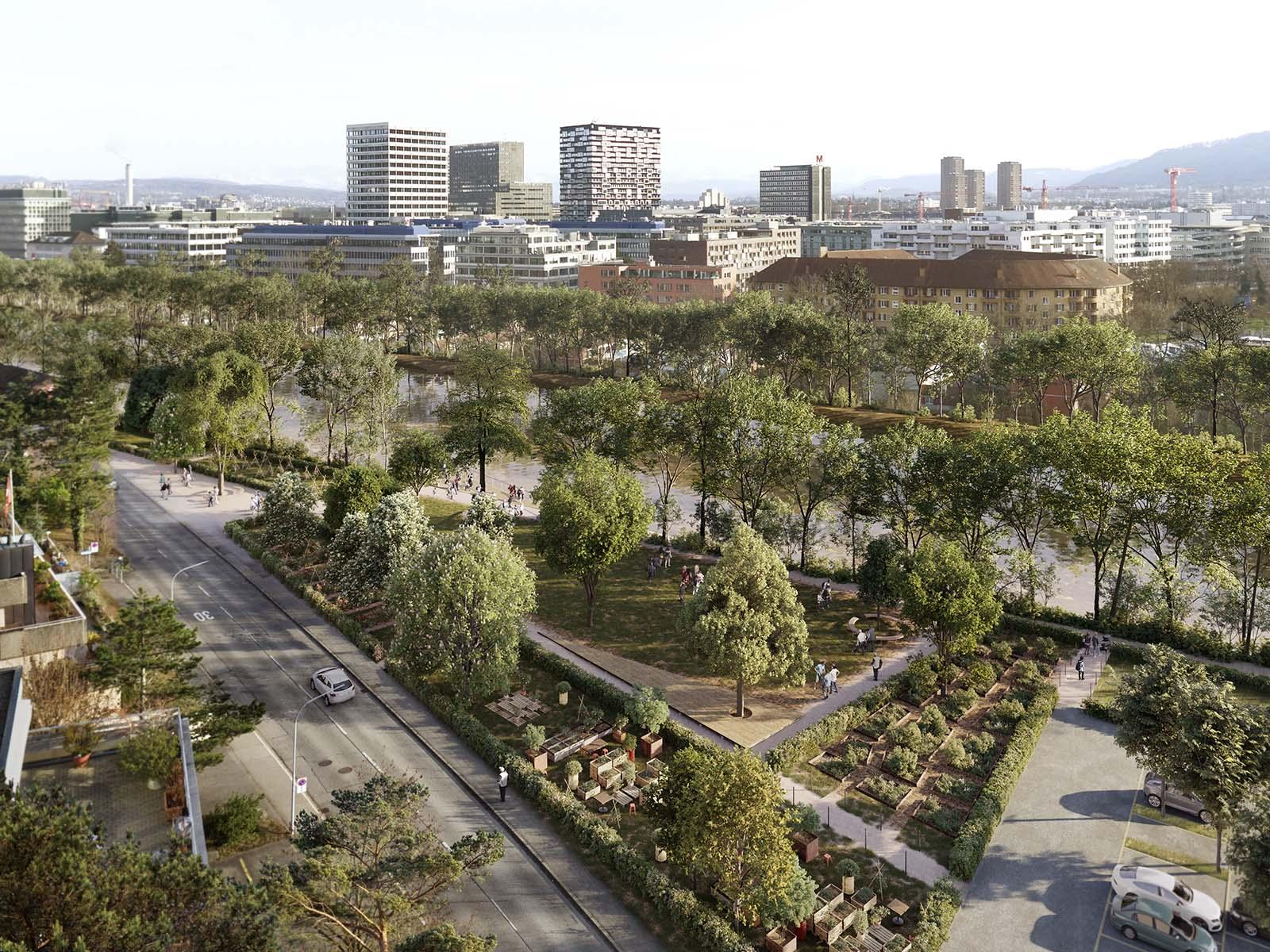 Der «Park Am Wasser» soll im Sommer 2022 eröffnet werden.
