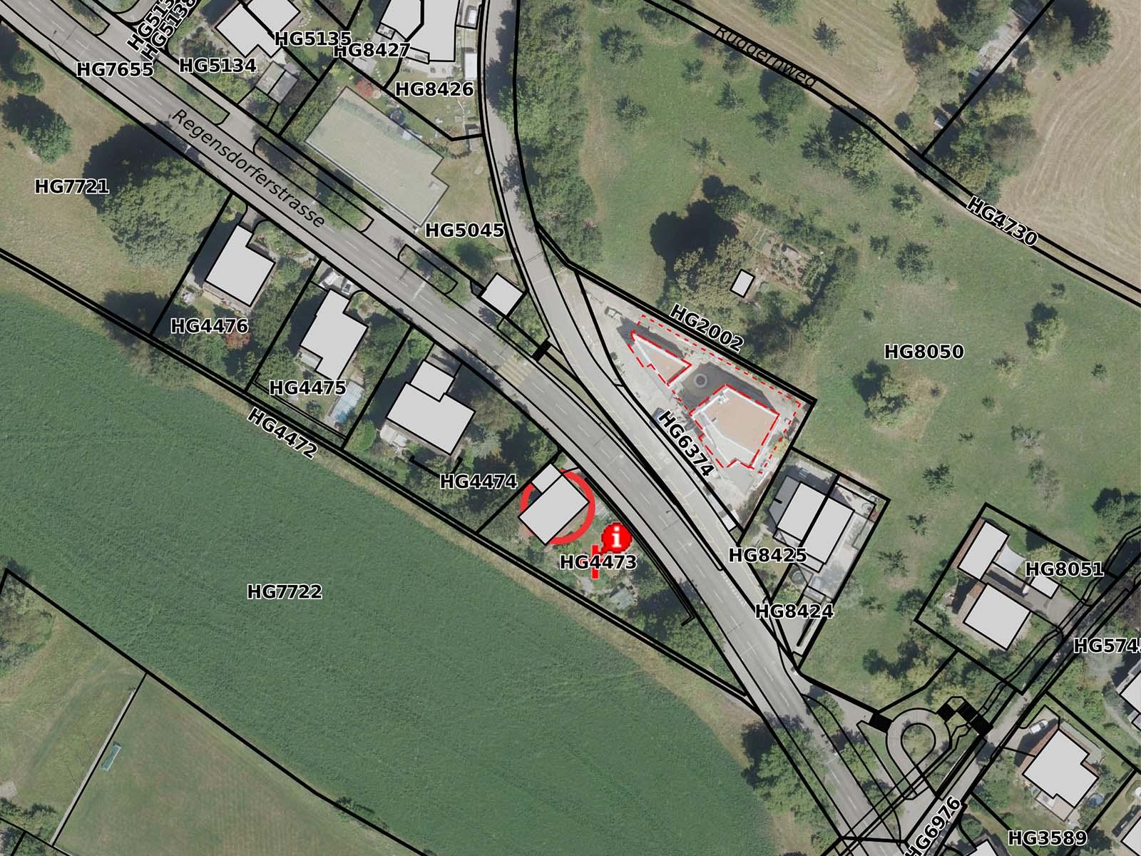 Das Grundstück an der Regensdorferstrasse 109 umfasst rund 800 Quadratmeter.