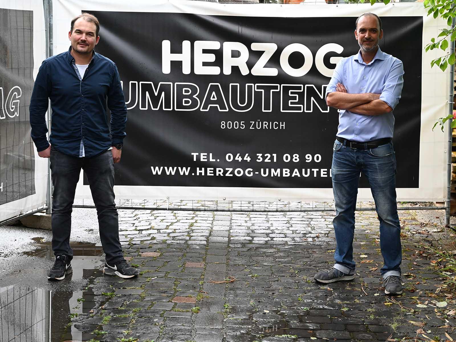 Davide Palazzo und Erich Brunner sind die Geschäftsführer von Herzog Umbauten.